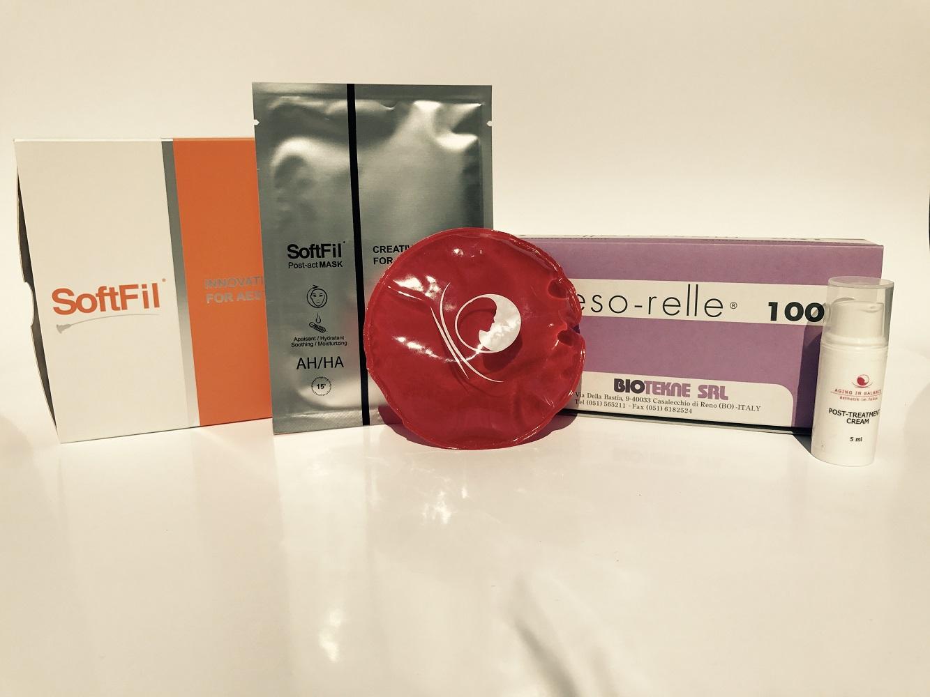 SoftFil- oder Mesokanülen und Masken bei DermaLifting.